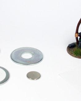 25 mm magnetisierte Rundbases (40)-0