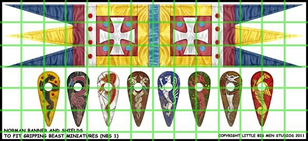 Normannen Banner & Schild Designs (Little Big Men)-0