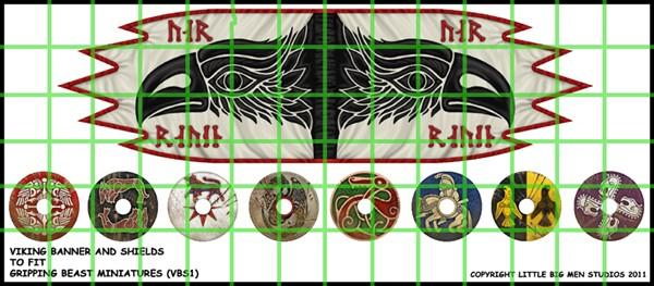 Wikinger Banner & Schild Designs (Little Big Men)-0