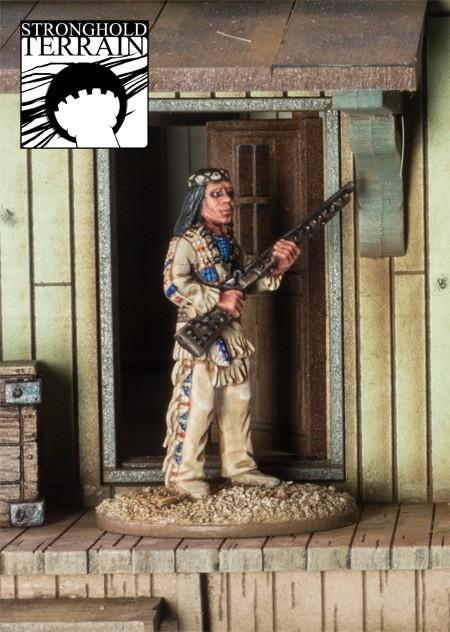 Berühmter Häuptling der Apachen-1833