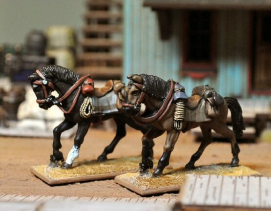 3 reiterlose Pferde-1936