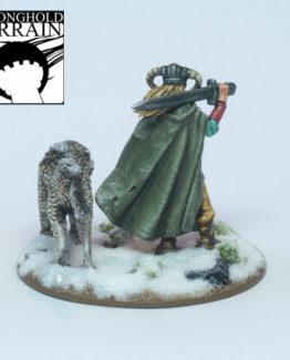 Weiblicher Kriegsherr mit Wolf-2103