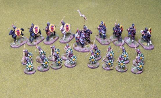 SAGA Starter Armee: 4 Punkte Spätrömer (Footsore miniatures)-0