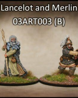 Lancelot & Merlin (2) (Footsore miniatures)-0