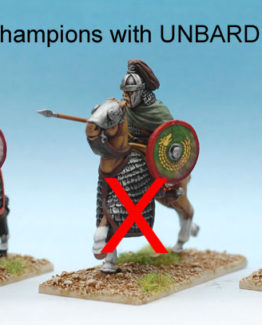 Goths Champions with unbarded horses