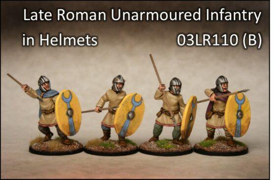Spätrömer ungerüstete Infanterie mit Helmen (4) (Footsore miniatures)-0