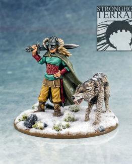 SC201 Female Warlord & Wolf 1